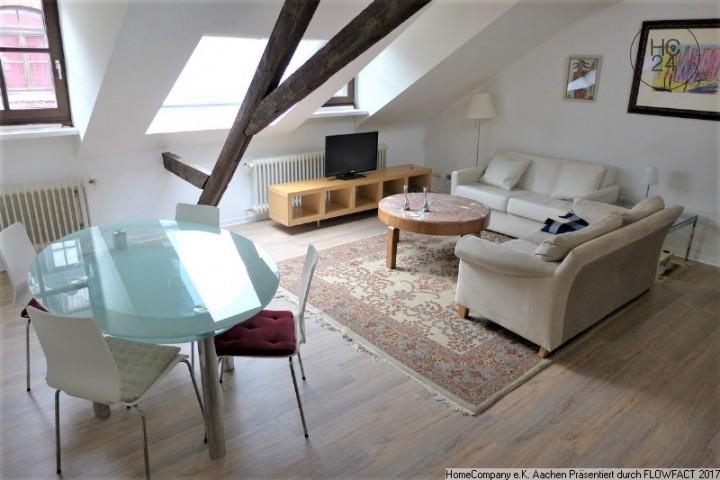 Aachen-City: Schick möbl., ruhige 3,5 Zi-Whng. mit gemeinschaftl. Dachterrasse