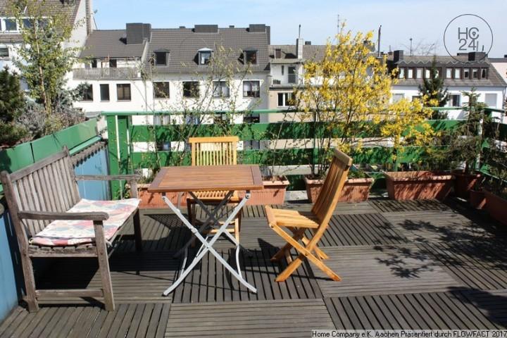 Aachen, am Zentrum: Ansprechend möbl. 3-Zi.-Whng. mit Terrasse in ruhiger Lage