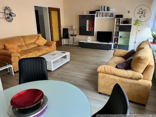 Am Frankenberger Viertel: Ruhige, modern möblierte 3 Zi-Wohnung mit Balkon; city-nah