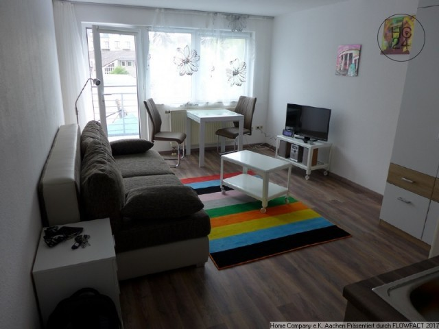Aachen City: Schick Möbl. 1 Zi App. Mit Balkon In