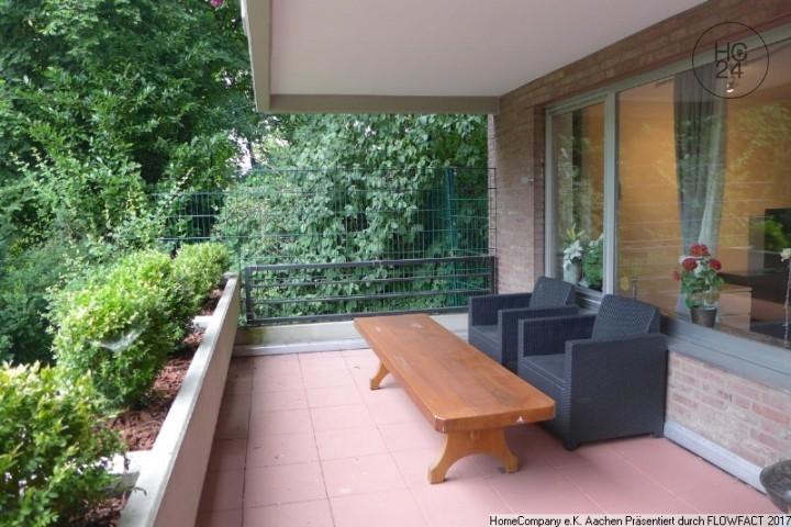 Aachen-Lousberg:  möbl. 2-Zimmerwohnung mit Balkon und Garage in begehrter Wohnlage