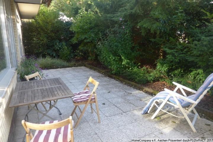Aachen-Südviertel: Modern möbl. Bungalow mit Süd-Terrasse u. Garage in guter Lage