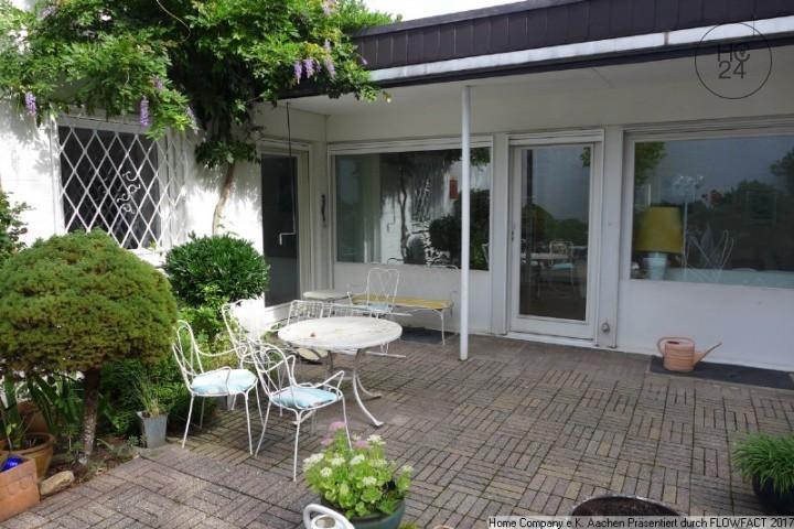 Aachen-Südviertel: Ansprechend möbl. Bungalow m. Terrasse, Garten u. Garage,