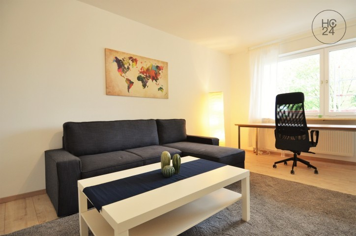 bright furnished apartment in Augsburg