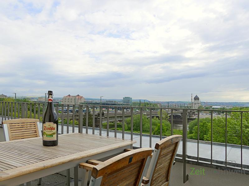Leipziger Vorstadt, neu möblierte Maissonette-Whg m. Aufzug, traumhafter Blick auf Elbe und Altstadt