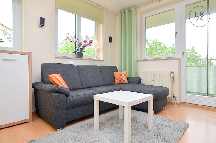 Nicely furnished 1-room apartment with 2 balconies in Nuremberg/ St. Jobst