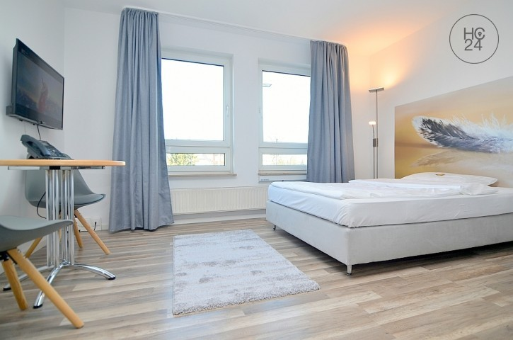 Exclusively furnished apartment with Wi-Fi and parking space at the U1 Stadthalle