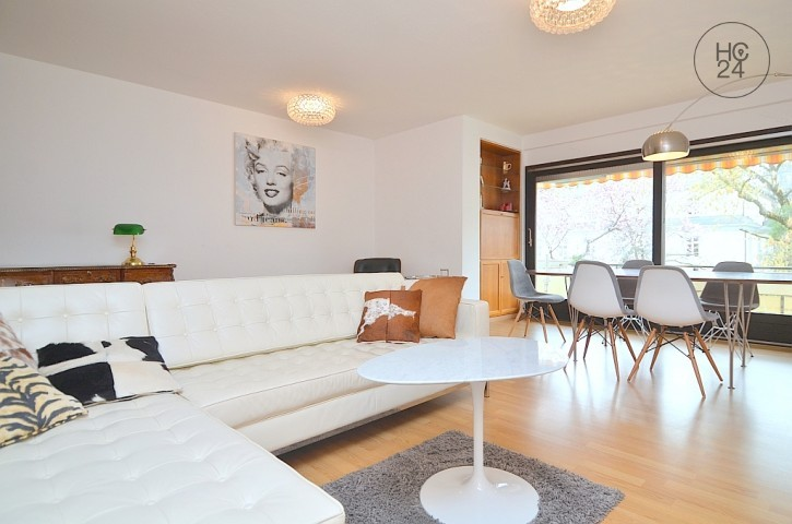 Tastefully furnished 4-room apartment with Wi-Fi and 2 balconies in Nuremberg Maxfeld