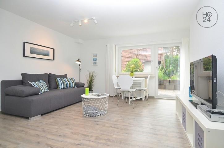 Modern möblierte Wohnung mit Stellplatz und Terrasse bei Erlangen