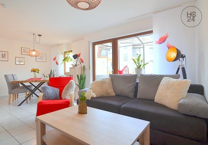 Geschmackvoll möblierte 2-Zimmer-Wohnung mit WLAN und Balkon in Nürnberg/Gleishammer