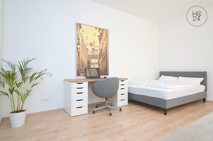 Exclusively furnished room with Wi-Fi, patio and garage close to Main train station