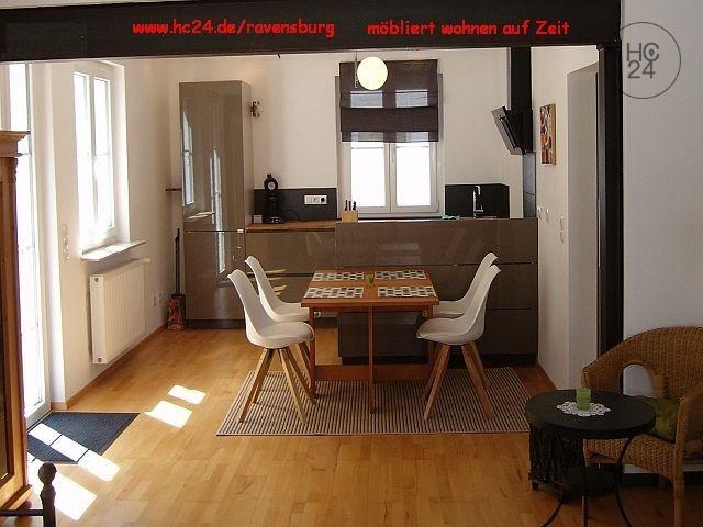 Ravensburg, 1220 €/Monat. Stadtwohnung , Balkon, gut möbliert, hell. Befristet frei!