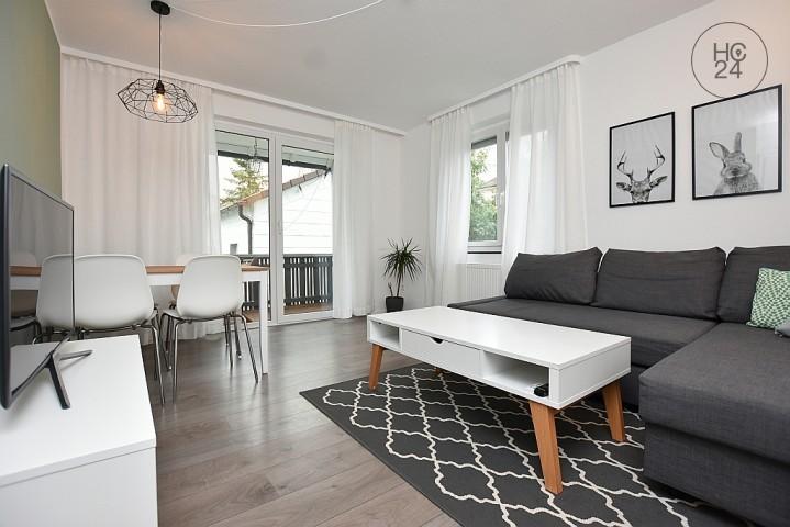 Wunderschöne modern möblierte wohnung mit balkon am