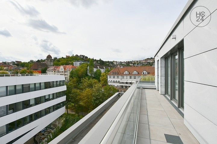 Great, furnished new apartment with fantastic terrace and super view in Stuttgart Nord
