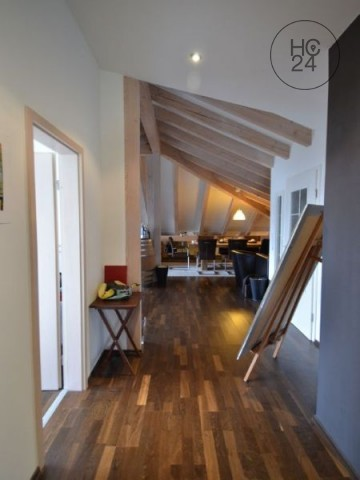 Stylishly furnished attic apartment in Degerfelden, temporary
