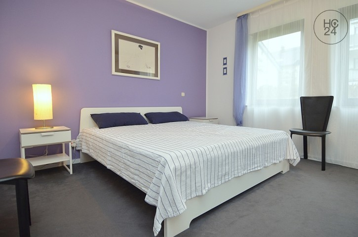 Furnished 2-room apartment with garden, terrace and underground garage in Wiesbaden-City