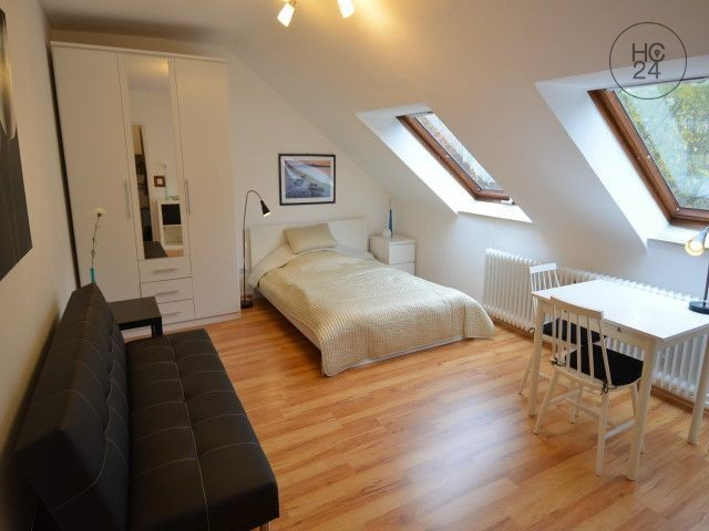 Nicely furnished 1-room apartment with internet and parking space in Wiesbaden-Aukamm