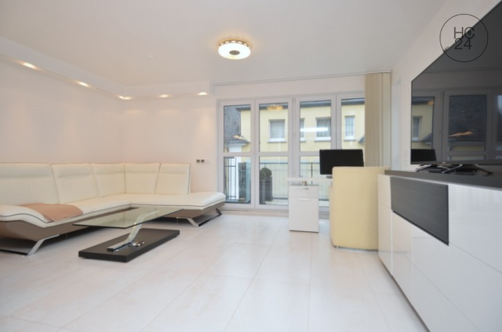 Furnished 2-room maisonette apartment with Internet and two balconies in Wiesbaden City
