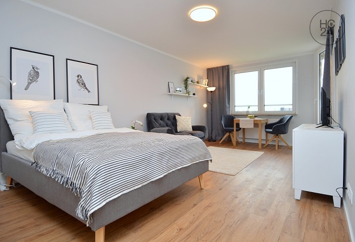 Great, chic furnished 1-room apartment with loggia in Frankfurt-Sachsenhausen