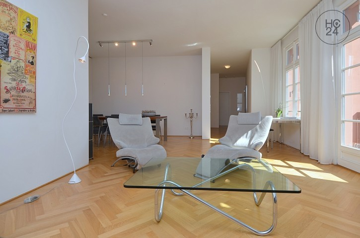 Exceptional, furnished 3-room apartment in historic walls in Mainz