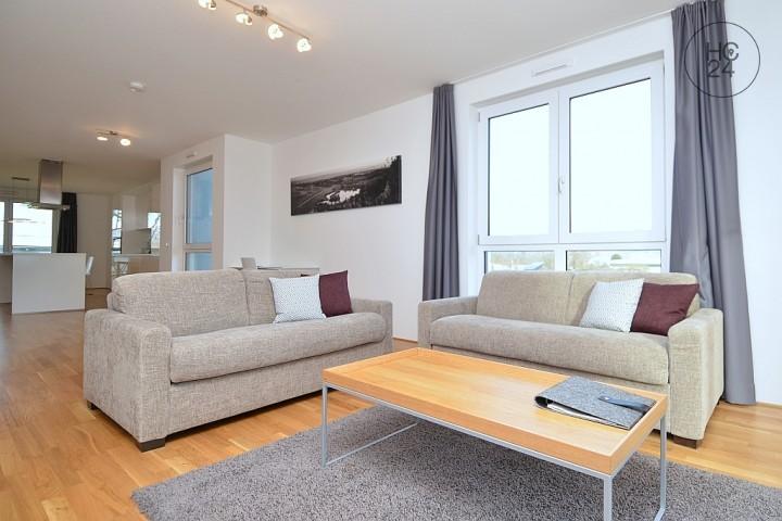 Hochwertig möbliertes 3 Zimmer Appartement mit Balkon oder Terrasse in Budenheim