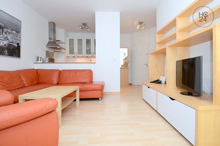 Very centrally located, furnished 2-room apartment with internet in Wiesbaden