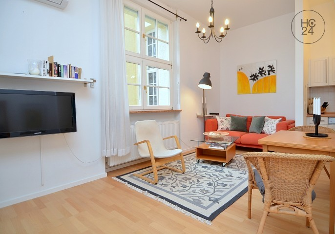 Nice furnished 1.5-room apartment with internet and balcony in Wiesbaden