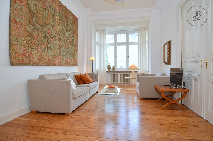 Exclusive, high quality furnished 4-room apartment in an old building in Wiesbaden