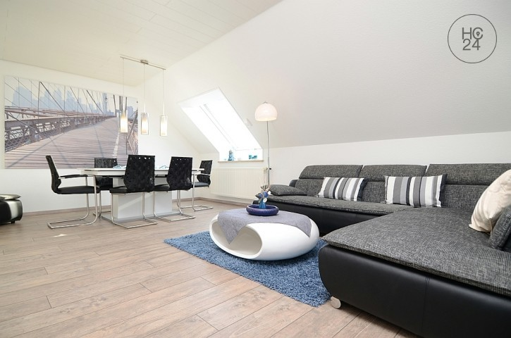 Modern furnished 2-room apartment with balcony in Unterpleichfeld